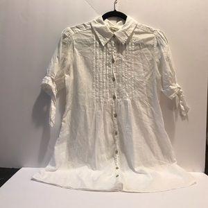 Converse white button down shirt